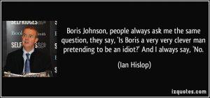 Hislop on Johnson